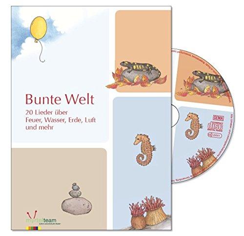 9783957091178: Bunte Welt, Liederbuch und Audio-CD