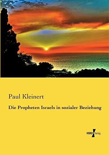 9783957382801: Die Propheten Israels in Sozialer Beziehung