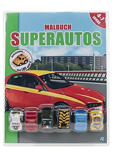 """Malbuch mit Fahrzeugen """"Super-Autos"""""""