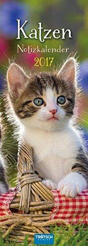 9783957743268: Katzen 2017 Streifenkalender: Notizkalender mit 12 Postkarten