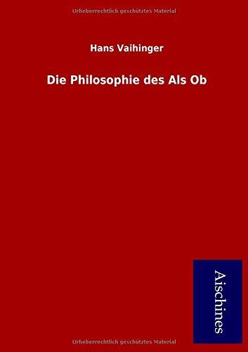 9783958006850: Die Philosophie des Als Ob