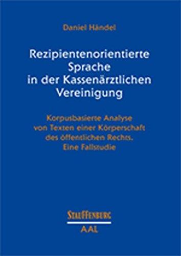 Rezipientenorientierte Sprache in der Kassenärztlichen Vereinigung: Daniel H�ndel