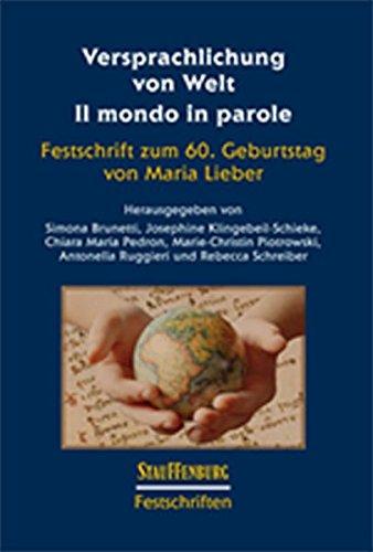 Versprachlichung von Welt - Il mondo in parole: Simona Brunetti