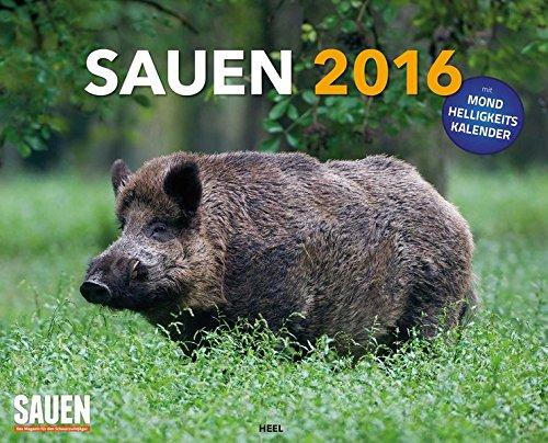 9783958430730: Sauen 2016 XXL-Posterkalender: mit Mond-Helligkeitskalender