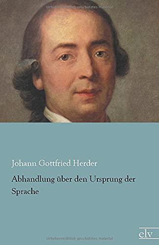 9783959090124: Abhandlung ueber den Ursprung der Sprache