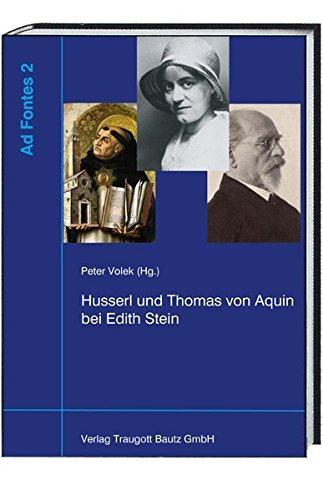 Husserl und Thomas von Aquin bei Edith Stein: Peter Volek