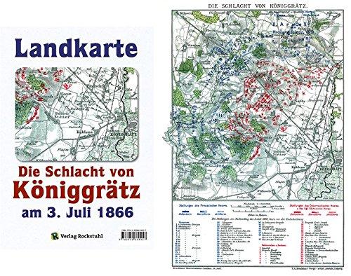 9783959660457: Historische Landkarte: Schlacht bei Königgrätz am 3. Juli 1866 (A2 gefaltet auf A4)