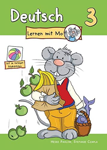 9783960084464: Deutsch lernen mit Mo - Teil 3: Bildwörterbuch zum Ausmalen, Üben und Spielen mit farbigen Bildkärtchen