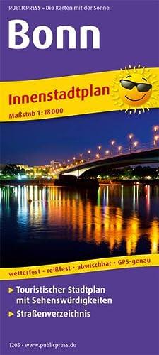 Bonn. Innenstadtplan 1 : 18 000: Touristischer