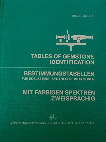 9783980029230: Bestimmungstabellen f�r Edelsteine, Synthesen, Imitationen; Tables of Gemstone Identification