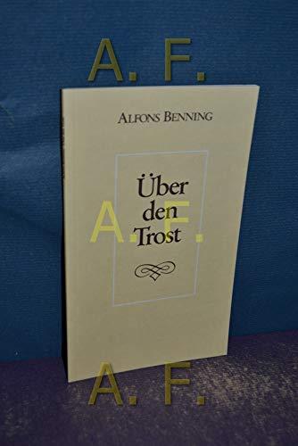 9783980122436: Uber den Trost: Ein Essay zur Anthropologie und Theologie des Trostes (Reihe praktisch-theologischer Schriften) (German Edition)