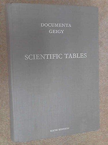 Documenta Geigy Scientific Tables - Seventh Edition: Diem, K Lentner, C