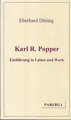 9783980304214: Karl R. Popper. Einf�hrung in Leben und Werk