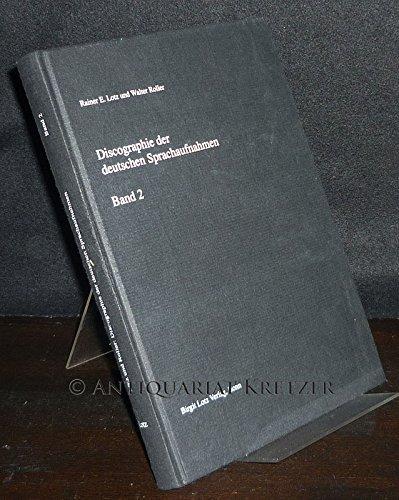 9783980346191: Discographie der deutschen sprachaufnahmen (Deutsche National-Discographie)