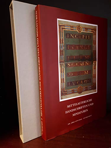 Mittelalterliche Handschriften und Miniaturen: Gunter, Jorn (ed.)