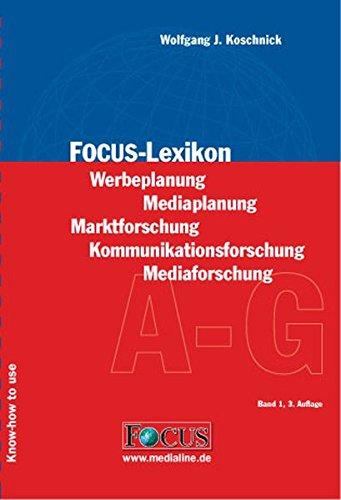 9783980857406: Focus-Lexikon - Set: Werbeplanung - Mediaplanung. Marktforschung - Kommunikationsforschung - Mediaforschung