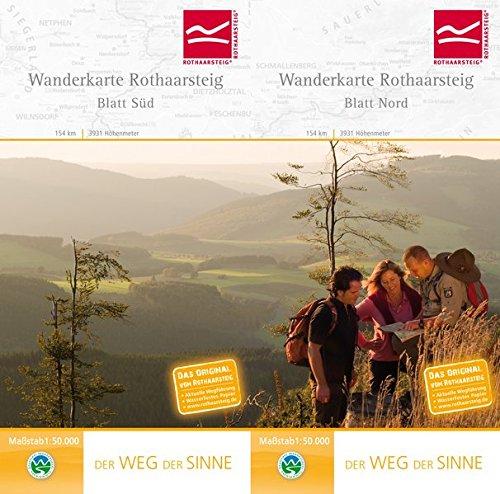 9783980985758: Wanderkarte Rothaarsteig Süd / Nord. 1 : 50 000: Der Weg der Sinne. 154 km, 3931 Höhenmeter