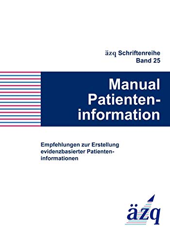 9783981100204: Manual Patienteninformation