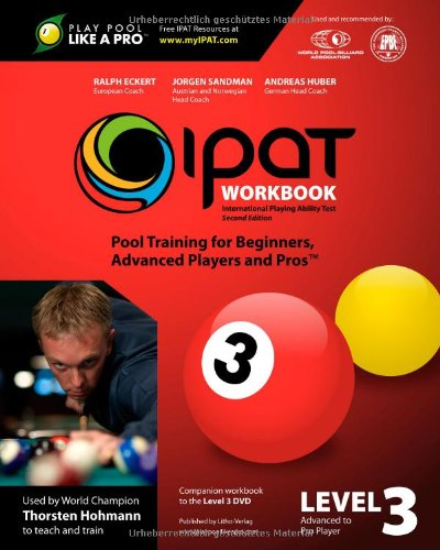 9783981171372: IPAT Level 3 Workbook: International Playing Ability Test - Pool Training for Beginners, Advanced Players and Pros