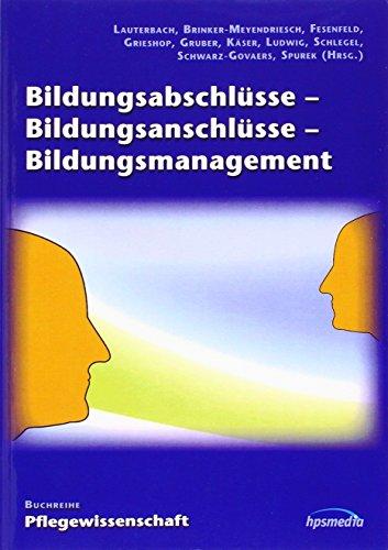 9783981425963: Bildungsabschlüsse - Bildungsanschlüsse - Bildungsmanagement