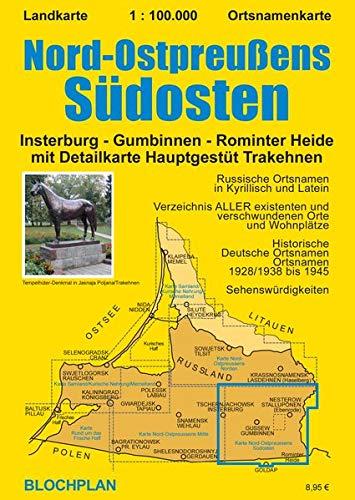 9783981565638: Nord-Ostpreußens Südosten: Insterburg - Gumbinnen - Rominter Heide im Maßstab 1:00.000 mit Detailkarte Hauptgestüt Trakehnen im Maßstab 1:50.000