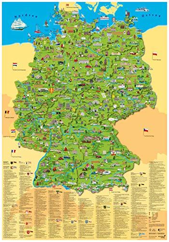 Kinder Deutschlandkarte Poster 9783981630190 Greatbookprices