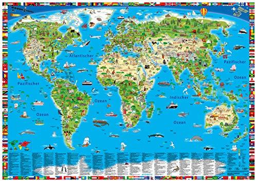 9783981689136: Erlebnis illustrierte Weltkarte Planokarte: Erlebniskarte