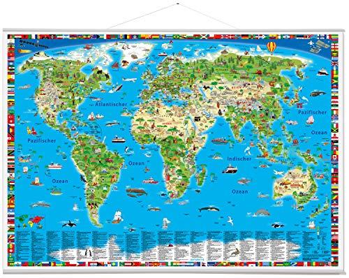 9783981689150: Illustrierte Weltkarte. Erlebniskarte mit Metall-Beleistung