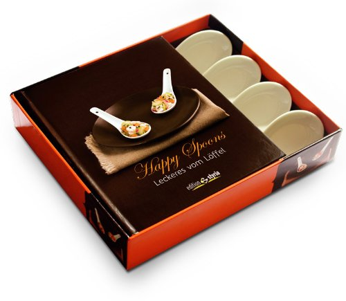 9783990110430: Happy Spoons: Leckeres vom L�ffel   Cook'in  Box mit 4 H�ppchenl�ffel