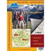 9783990170137: Zillertal Mayrhofen - Hippach 1 : 40 000 Luftbildpanorama und Wanderkarte: Wandern, Biken, Information