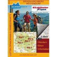 Brixen, Kirchberg, Westendorf 1 : 35 000 Luftbildpanorama & Wanderkarte: Wandern, Biken, ...