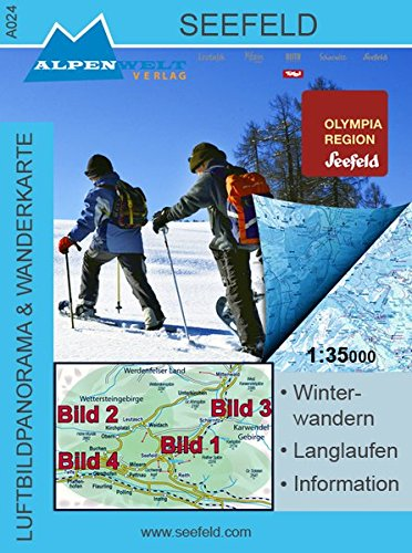9783990172988: Winter-Wanderkarte von Seefeld 1 : 35 000 Luftbildpanorama & Wanderkarte