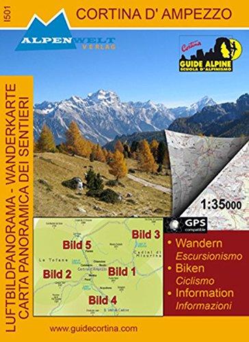9783990175019: Cortina D'ampezzo 1 : 35 000 Wanderkarte & Luftbildpanoramakarte