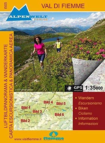 9783990175057: Val di Fiemme 1 : 35 000 Luftbildpanorama Wanderkarte und topografische Wanderkarte: Wandern, Biken, Information. GPS compatible