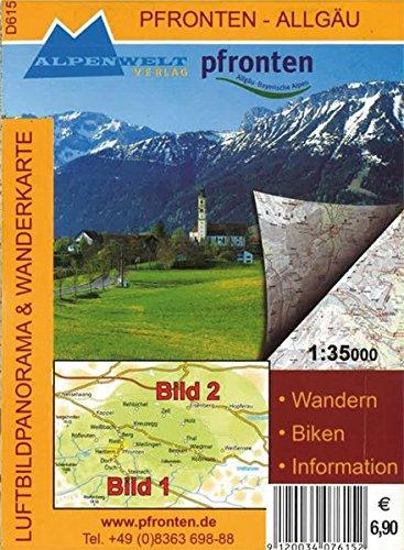Pfronten - Allgäu 1 : 35 000 Luftbildpanorama & Wanderkarte