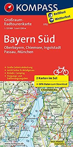 9783990440674: KOMPASS Großraum-Radtourenkarte Bayern Süd 1 : 125 000