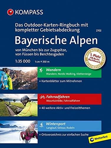 9783990440698: KOMPASS-Outdoor-Karten Ringbuch Bayerische Alpen 1 : 35 000: 3 in 1: Das KOMPASS-Outdoor-Karten Ringbuch mit großflächiger Gebietsabdeckung. Wander-, Winter- und Fahrradkarten