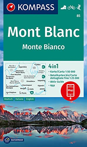 MAPA 85 - MONT BLANC/MONTE BIANCO 1:50000: AA.VV.