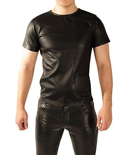 9783999859002: Tschul� chemise en cuir noir pour homme t-shirt, Size: S