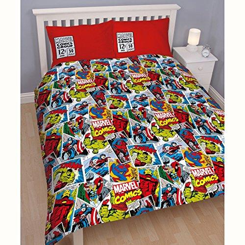 9784065545898: Marvel Comics Justice Double housse de couette et taie d'oreiller Set