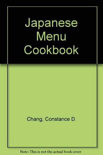 9784079753005: Japanese Menu Cookbook