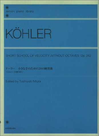 20 Etudes for small hand Kohler (Zen over on piano library) (2009) ISBN: 4111390196 [Japanese ...