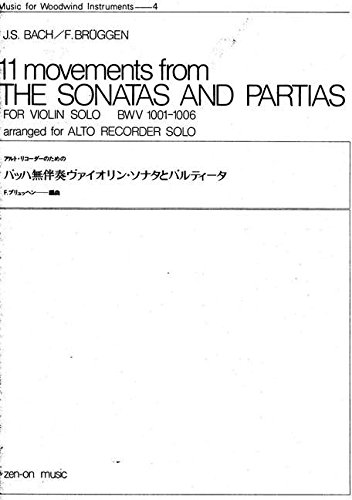 9784115090118: 11 Movements from Sonatas and Partias BWV 1001-6 - BOOK