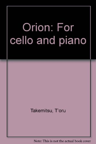 9784118995465: Orion: For Cello and Piano