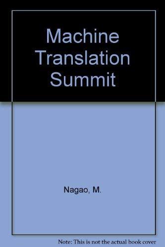 Machine Translation Summit: Nagao, M., Tanaka,