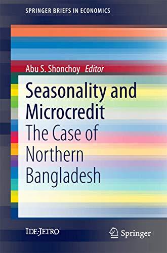 Seasonality and Microcredit: Abu S. Shonchoy