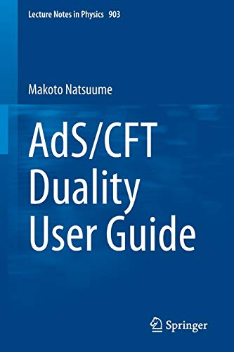 9784431554400: AdS/CFT Duality User Guide