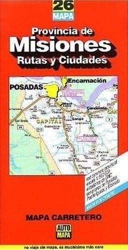 9784447000267: Provincia De Misiones - Rutas Y Ciudades Mapa Carretero -