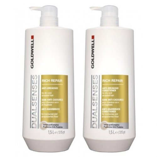 9784519498923: Goldwell Dualsenses Rich Repair Cream Shampoo 1500ml & Anti-Breakage Conditioner 1500ml