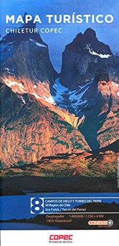 9784634360006: Chile Region XII - Campos de Hielo / Torres del Paine 1:400 / 550K Regional Map, waterproof, GPS-compatible